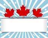 Kanada dzień transparent. — Wektor stockowy