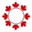 Stock Vector: CanadDay stickers.