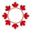 Canada Day stickers. — Stock Vector