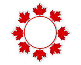 Canada Day stickers. — Vettoriale Stock