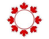 Kanada dag klistermärken. — Stockvektor