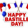 Stock Vector: Bastille Day stickers.