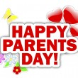 Parents day stickers. — Stock Vector