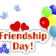Friendship Day stickers. — 图库矢量图片 #11653085