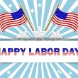 Stock Vector: Labor Day background.
