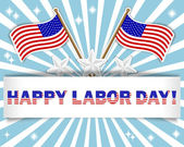 Labor Day background. — Vettoriale Stock