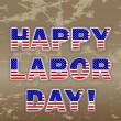 Happy Labor Day. — Stockvektor