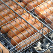 Grilled sausages - Stok fotoraf