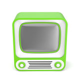 Green retro TV — Stock fotografie