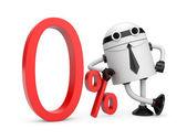 Zero percent — Stock Photo