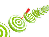 Targets with arrow — Stock Photo