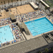 Aerial view to swimming pool - Foto de Stock