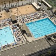 Aerial view to swimming pool - Stock Photo