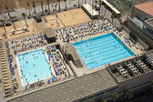 Aerial view to swimming pool — Stock Photo