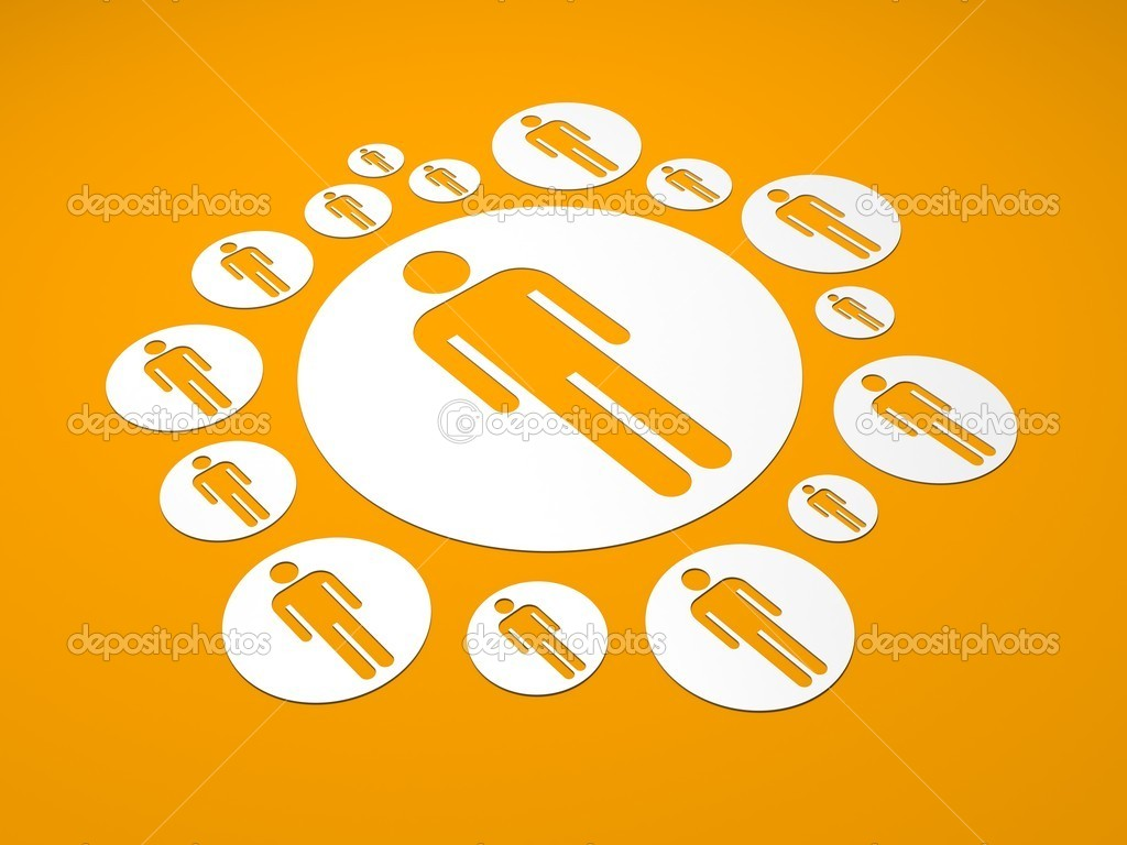 Social Network. Conceptual 3d background — Stock Photo #12275778