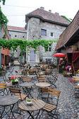 Eski şehrin kafe — Stok fotoğraf