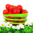 Stock Photo: Bowl with fresh strawberries