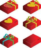 Gift case vector — Stock Vector