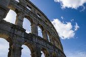 Roman colosseum in Pula — Stock Photo