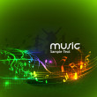 Abstract music dance background — Stock Vector