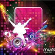 Abstract music background — Stock Vector