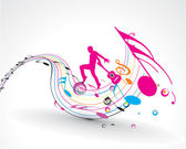 Soyut müzik dans arka plan — Stok Vektör