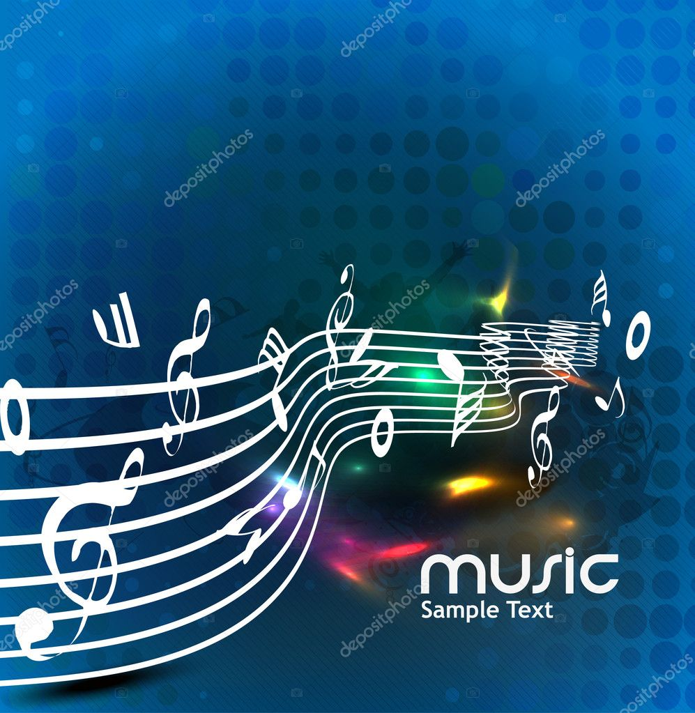 Abstract music background for music event design. vector illustration.  — Stock Vector #11813307