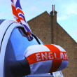 English flag on a car during sport event — Stock Photo
