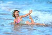 Beautiful Girl on a seashore — Stock Photo