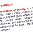 Stock Photo: Gravitation text highlighted in red