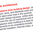 Solar architecture text highlighted in red — Stock Photo