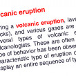 Royalty-Free Stock Photo: Volcanic eruption text highlighted in red