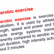 Stock Photo: Anaerobic exercise text highlighted in red