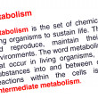 Metabolism text highlighted in red — Stock Photo