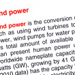 Wind power text highlighted in red — Stock Photo