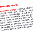 Stock Photo: Renewable energy text highlighted in red under same heading