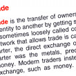 Trade text highlighted in red — Stock Photo
