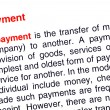 Payment text highlighted in red — Stock Photo
