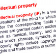 Intellectual property text highlighted in red - Stockfoto