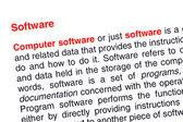 Testo software evidenziato in rosso — Foto Stock