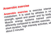 Anaerobic exercise text highlighted in red — Stock Photo