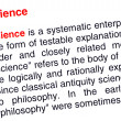 Stock Photo: Science text highlighted in red