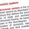 Economic system text highlighted in red — Stock Photo