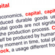 Capital text highlighted in red — Stock Photo