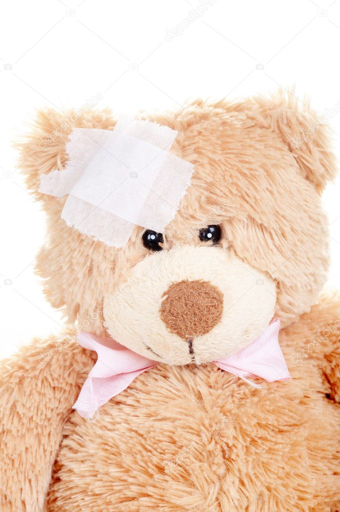Suffering Injured Sweet Teddy Bear — Stock Photo #11616853