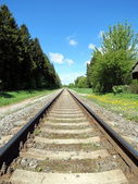 Tren demiryolu — Stok fotoğraf