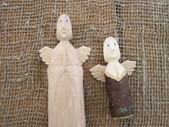 Anjos de madeira — Foto Stock