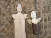 Wooden angels — Stock Photo