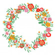 Stock Vector: Wreath floral