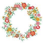 Wreath floral — Stock Vector
